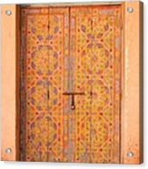 Colourful Entrance Door Sale Rabat Morocco Acrylic Print by Ralph A  Ledergerber-Photography