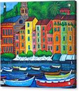 Colours Of Portofino Acrylic Print by Lisa  Lorenz