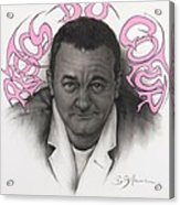 Coluche Acrylic Print by Guillaume Bruno