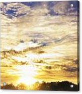 Combine At Sunset Acrylic Print by Michael Huddleston