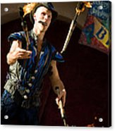 Comedy Juggling Acrylic Print by Mary AD Art