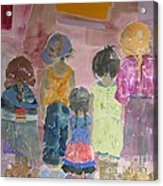 Comfort In Friends Acrylic Print by Vicki Aisner Porter