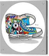 Comics Shoes 2 Acrylic Print by Mark Ashkenazi