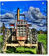 Coming Out Of A Heavy Action Tractor Acrylic Print by Eti Reid