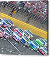Coming Out Of Turn 4 Acrylic Print by Kenneth Krolikowski