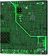 Computer Circuit Board Acrylic Print by Olivier Le Queinec