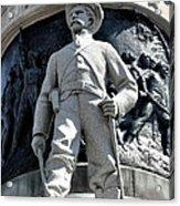 Confederate Soldier II Alabama State Capitol Acrylic Print by Lesa Fine