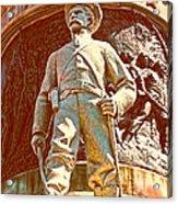 Confederate Soldier Statue I Alabama State Capitol Acrylic Print by Lesa Fine