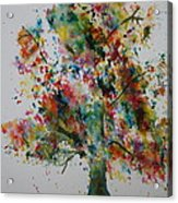 Confetti Tree Acrylic Print by Patsy Sharpe