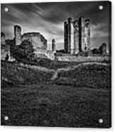 Conisbrough Castle Doncaster Acrylic Print by Ian Barber