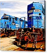 Conrail Choo Choo  Acrylic Print by Frozen in Time Fine Art Photography