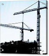 Construction Cranes Acrylic Print by Antony McAulay