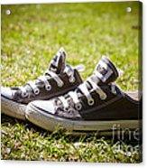 Converse Pumps Acrylic Print by Jane Rix