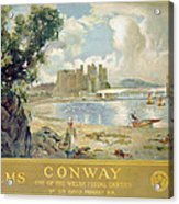 Conway Castle Acrylic Print by Sir David Murray