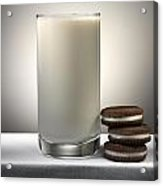 Cookies And Milk Acrylic Print by Robert Mollett