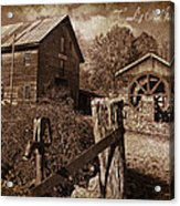 Cook's Old Mill 1857 Acrylic Print by Regina  Williams