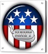 Cool Navy Insignia Acrylic Print by Pamela Johnson