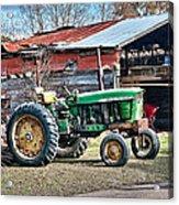 Coosaw - John Deere Tractor Acrylic Print by Scott Hansen