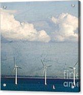 Copenhagen Wind Turbines Acrylic Print by Joan McCool