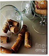 Corks 2 Acrylic Print by Cheryl Young