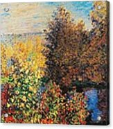 Corner Of Garden In Montgeron Acrylic Print by Claude Monet
