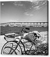 Coronado Bridge Bike Acrylic Print by Peter Tellone