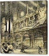 Coronation Evening London 1937 Acrylic Print by Jack Coburn Witherop