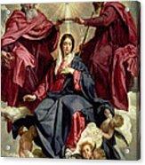 Coronation Of The Virgin Acrylic Print by Diego Velazquez