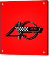 Corvette 40 Acrylic Print by Phil 'motography' Clark