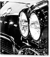 Corvette Picture - Black And White C1 First Generation Acrylic Print by Paul Velgos