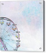 Cotton Candy Ferris Wheel Acrylic Print by Kay Pickens