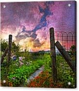 Country Garden Acrylic Print by Debra and Dave Vanderlaan