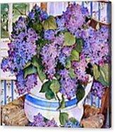 Country Lilacs Acrylic Print by Sherri Crabtree