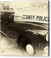 Country Police Antique Toned Acrylic Print by John Rizzuto