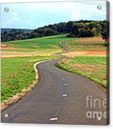 Country Road In France Acrylic Print by Olivier Le Queinec