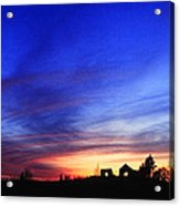 Country Sunset Acrylic Print by Wendell Thompson