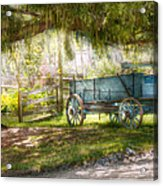 Country - The Old Wagon Out Back  Acrylic Print by Mike Savad