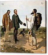 Courbetgustave 1819-1877. The Meetingor Acrylic Print by Everett