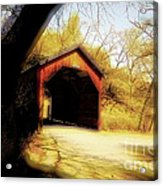 Covered Bridge 2 Acrylic Print by Cheryl Young
