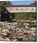 Covered Bridge Vermont Acrylic Print by Edward Fielding
