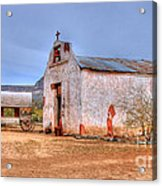 Cowboy Church Acrylic Print by Tap  On Photo