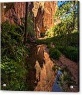 Coyote Gulch Canyon Reflection - Utah Acrylic Print by Gary Whitton