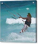 Cozumel Kiting Acrylic Print by Carol McCutcheon