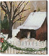 Cozy Cottage Acrylic Print by Cheryl Young
