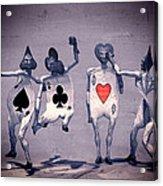 Crazy Aces Acrylic Print by Bob Orsillo