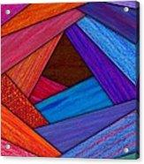 Crazy Log Cabin Card Acrylic Print by David K Small
