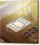 Credit Card Macro - 3d Graphic Acrylic Print by Johan Swanepoel