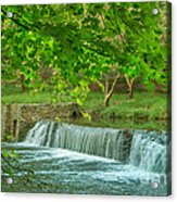 creek at Valley Forge Acrylic Print by Rima Biswas