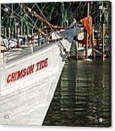 Crimson Tide Bow Acrylic Print by Michael Thomas