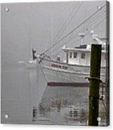 Crimson Tide In The Mist Acrylic Print by Michael Thomas